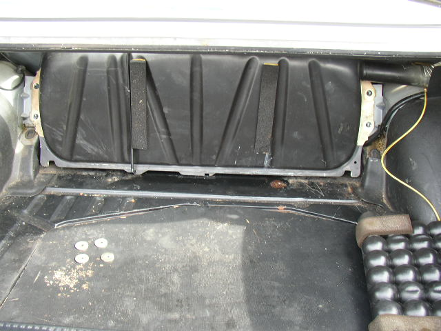 Removing mirror from a 1986 mercedes benz e class for Mercedes benz fuel tank